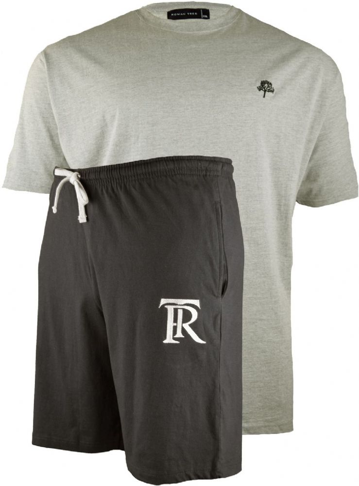 ROWAN TREE  Black Shorts & Grey T Shirt Set
